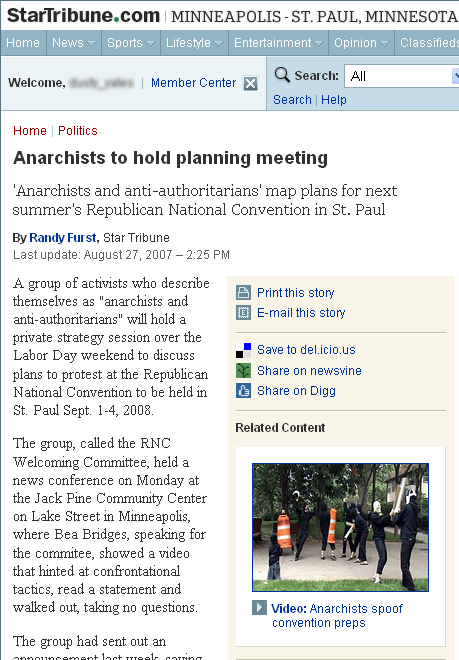 Anarchists to hold planning meeting